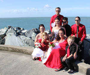 The Bridal Party Poses