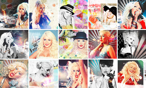 Christina Aguilera icons 7 by Missesglass