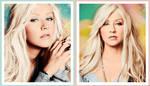 Christina Aguilera colorizations