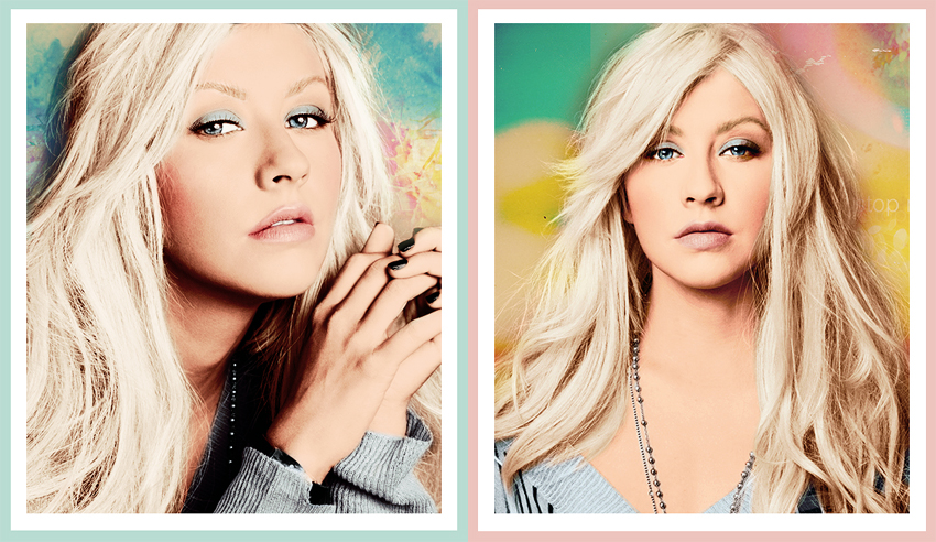 Christina Aguilera colorizations by Missesglass