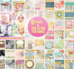 Twitter Exclusive 70 Icon Textures + 6 icon PSDs
