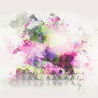 Watercolor triangle texture - 1904 by Missesglass