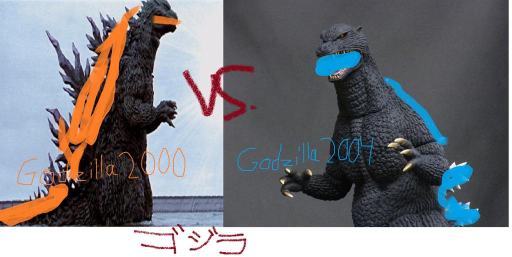 Godzilla 2000 vs. Godzilla 2004 by GodzillaFan1234 on ...