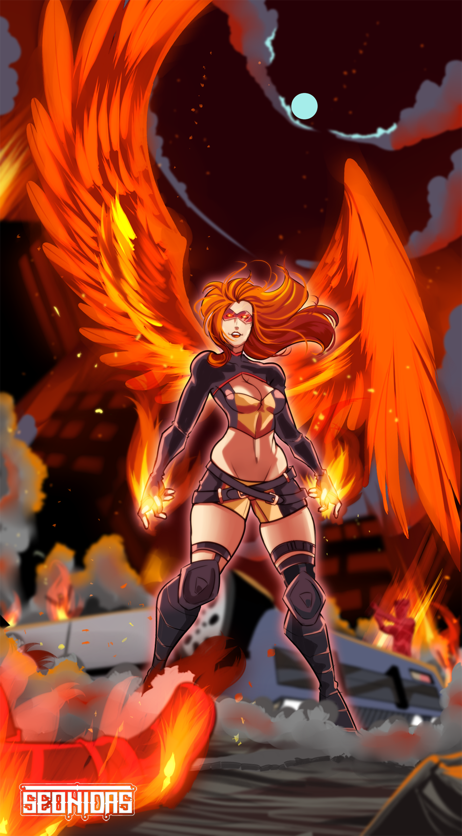 Fire girl by Seonidas