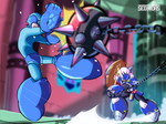 Mega Man vs Knight Man