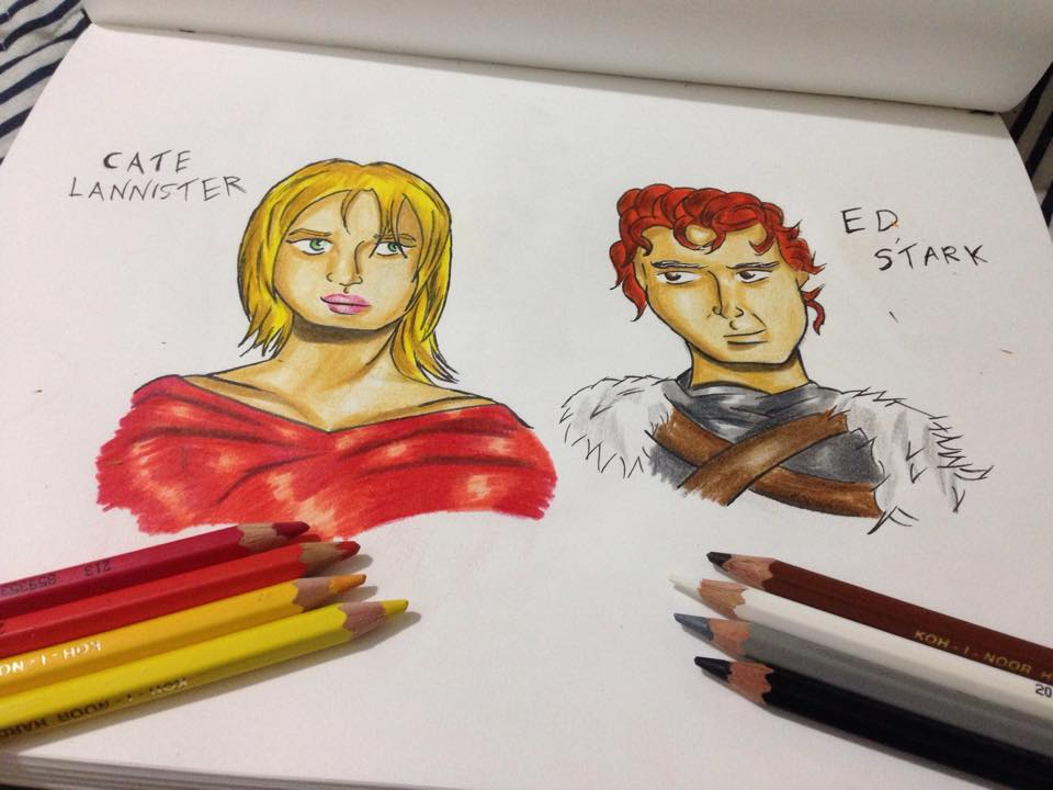 Cate Lannister and Ed Stark by SaturnCronus