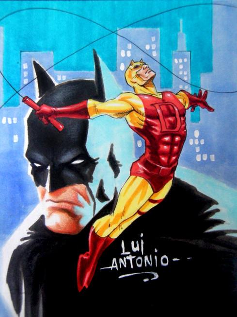 Batman Daredevil by stompboxxx