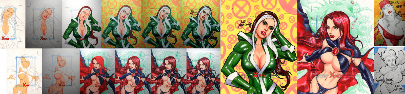 Rogue and Goblin Queen by stompboxxx
