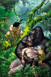 Lord of the Jungle #10--RisqueCover Art LuiAntonio by stompboxxx