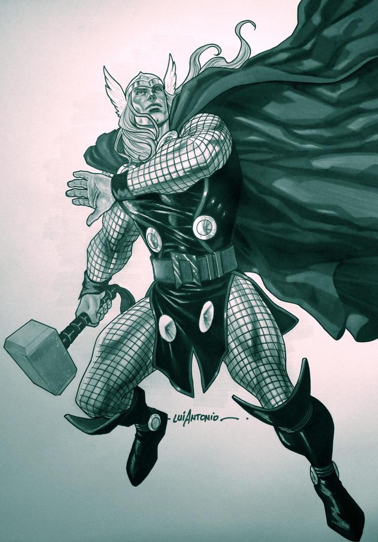 Thor monotone by stompboxxx
