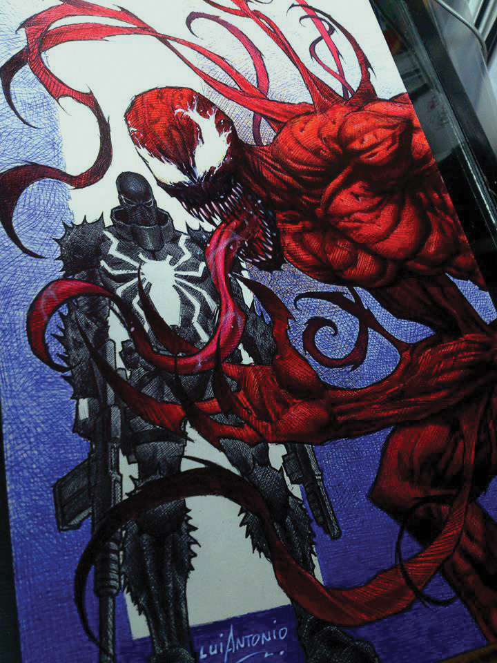 Agent Venom and Carnage by stompboxxx