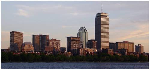 Boston Skyline by Ashla