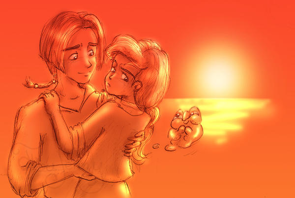 Jim And Ariel Sunset By Feujenny07 On Deviantart