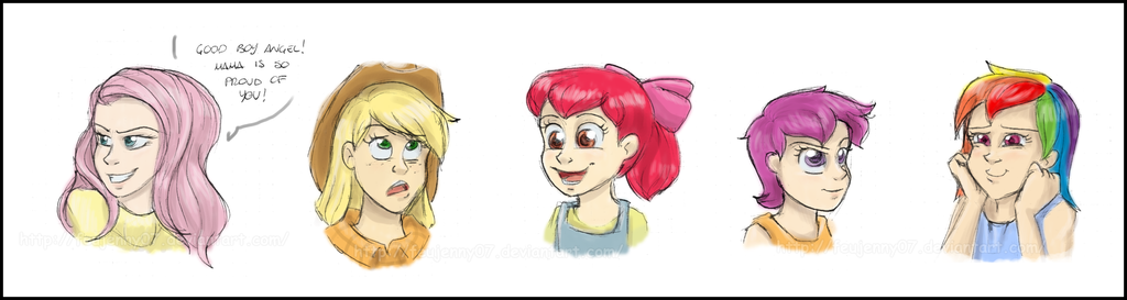 Humanized MLP: Expressions Sketchdump by FEuJenny07