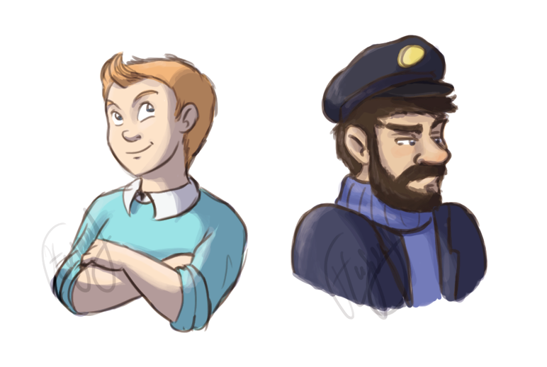 Tintin and Haddock by FEuJenny07