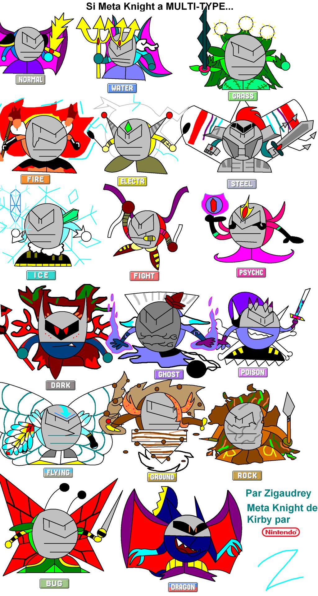 if meta knight has multi type by zigaudrey yt on deviantart