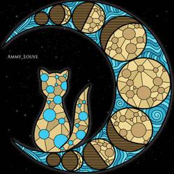Mooncat by Ammy-Louve