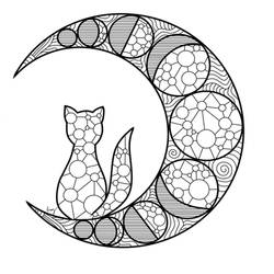 Mooncat Mandala by Ammy-Louve