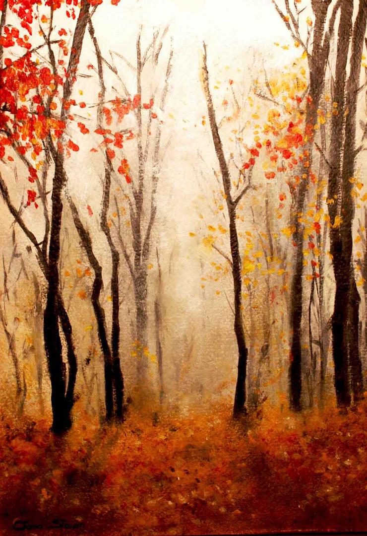 Foggy Autumn by nairafee