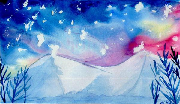 Winter Night by Kokopellinelli