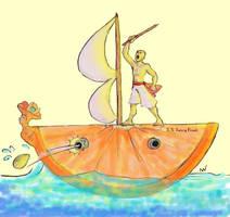 Battleship Orange