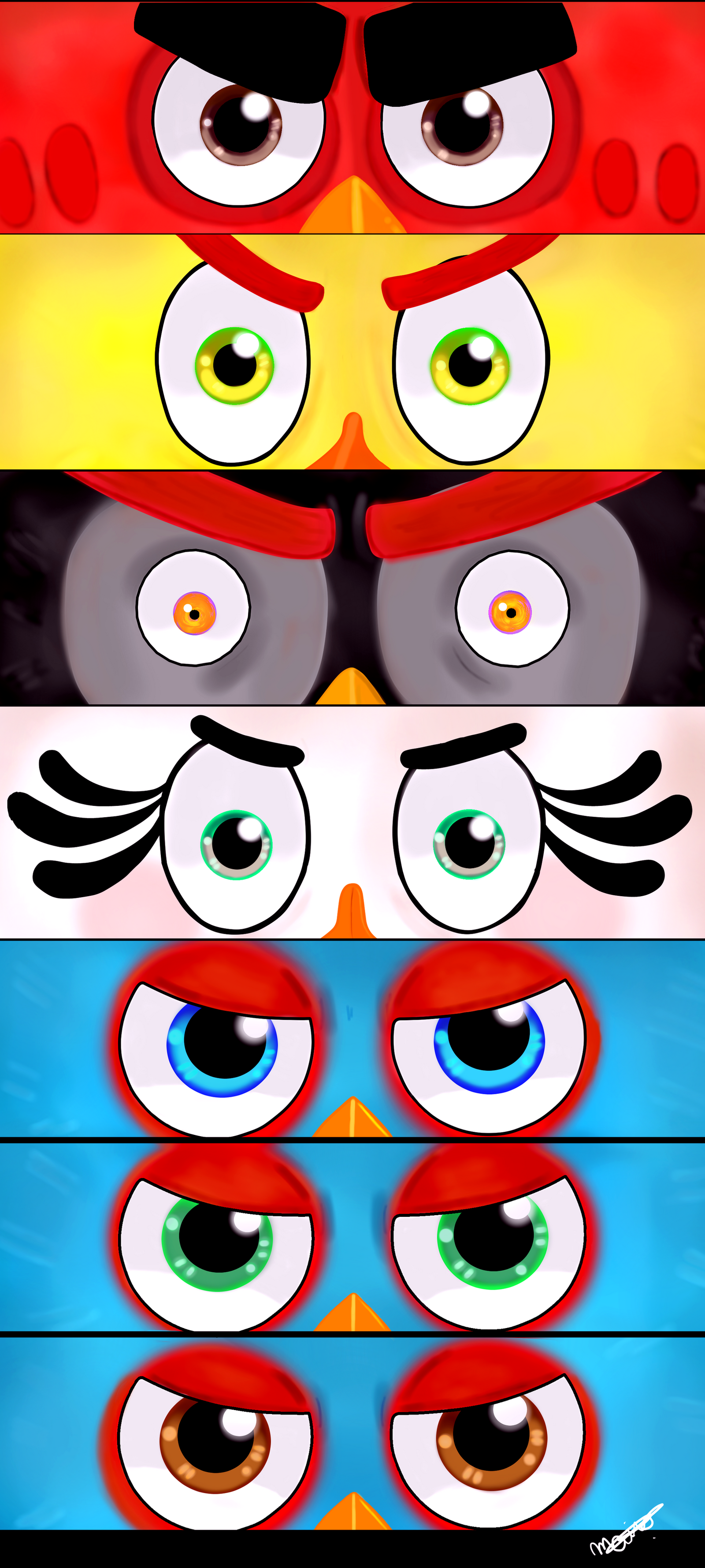 ... Eyes Of The Flock (7th Anniversary Angry Birds) by Mai-FanDraw