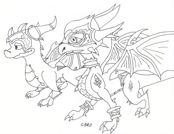 spyro and cynder coloring pages - photo#18