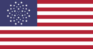 Flag of United States of America in EU style-2