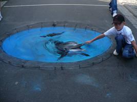 'Dolphin and my son.' by Nikolaj-Arndt