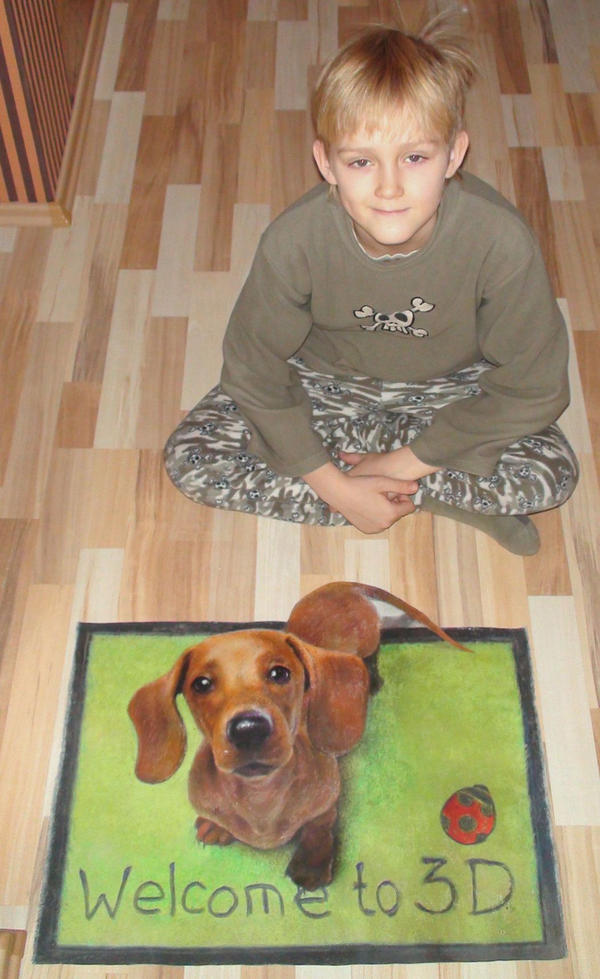 Son and 3D dog 2 by Nikolaj-Arndt