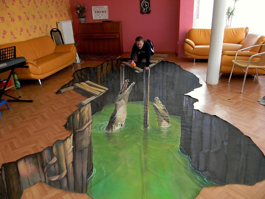 'Crocodiles eat.' by Nikolaj-Arndt