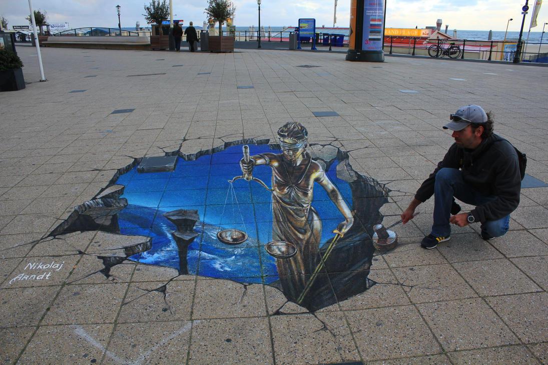 Justice ( Street Art Fest. Den Haag ) by Nikolaj-Arndt