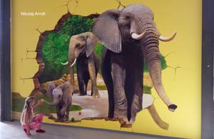 A family of elephants by Nikolaj-Arndt