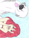 Ariel and Max Drawing