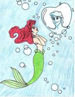 Ariel Bubbles Drawing by julietcapulet432