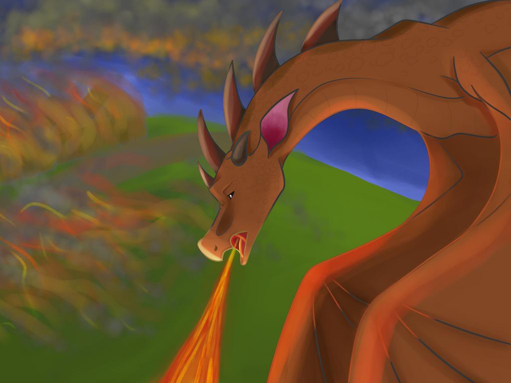 Dragon Attack by a-mystical-feline