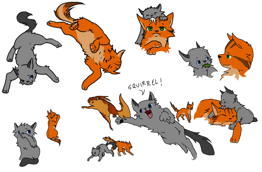 fireheart and cinderpawFireheart And Cinderpaw