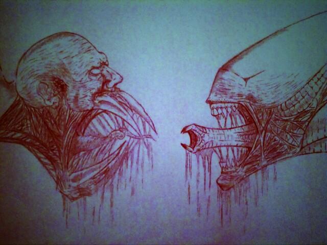 xenomorph vs necromorph-#6
