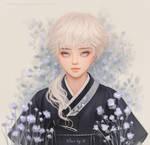 Hanbok and pretty boy.