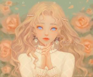 PRAY_issaclily. my O.C by Nissaclily