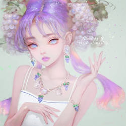 Grape Lady Love. by Nissaclily