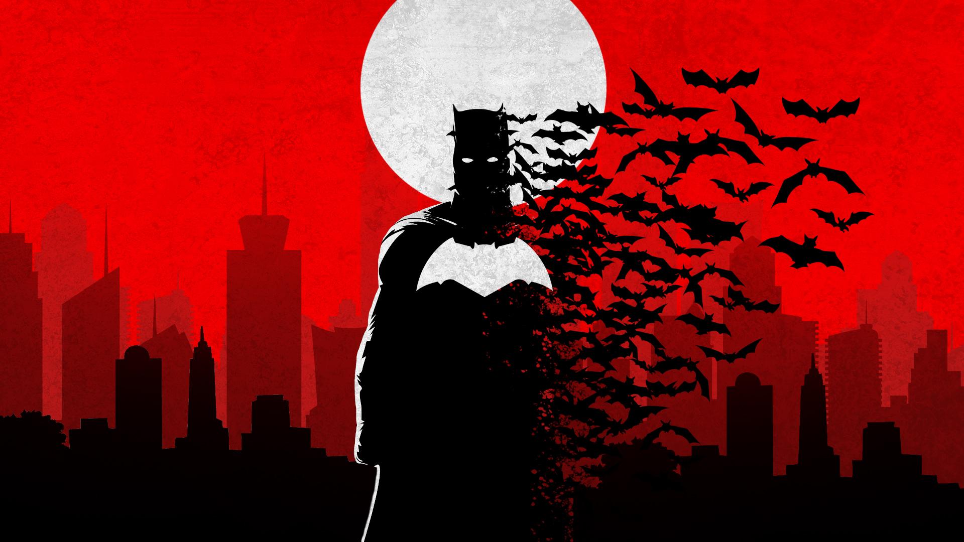 Batman Minimalist Wallpaper (by TheKevinMevlana)