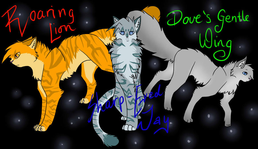 The power of three by silvercandraw on deviantart The three cats