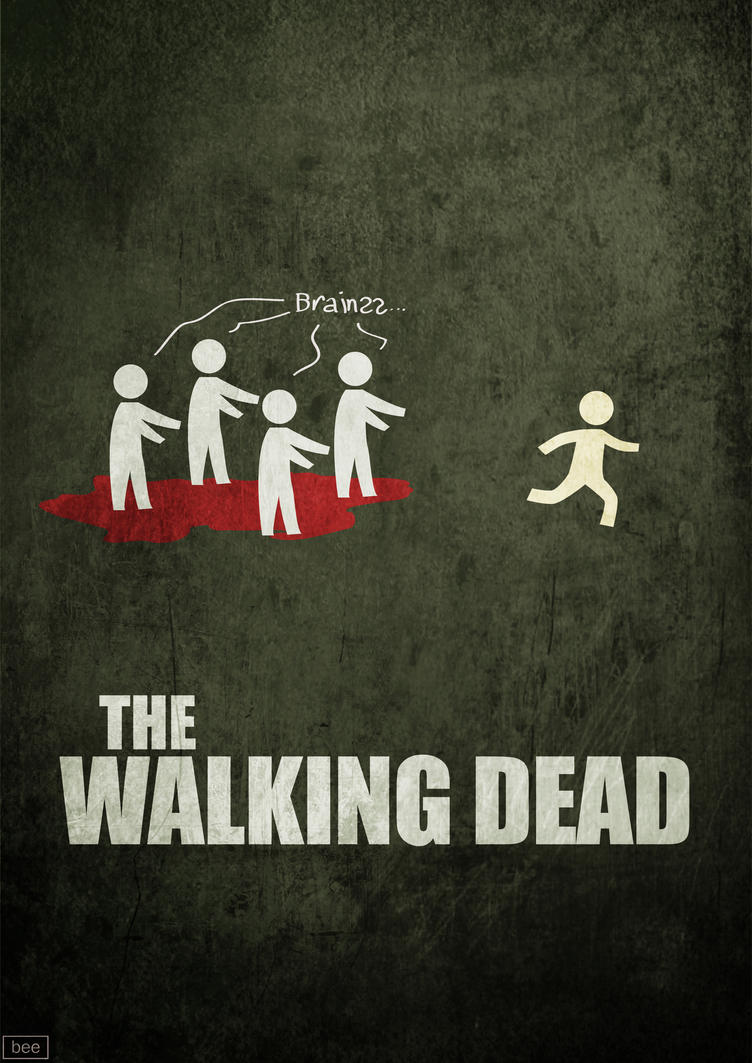 the walking dead minimal poster by bananapatatas on deviantart. Black Bedroom Furniture Sets. Home Design Ideas