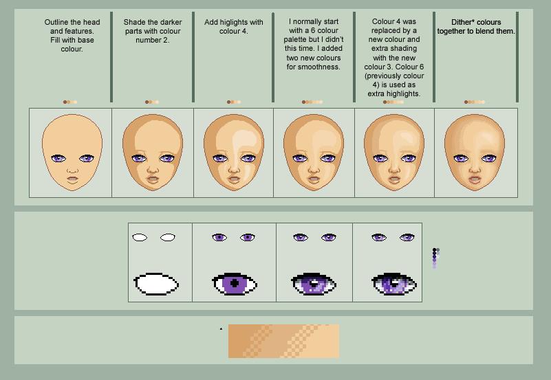 Pixel Face Tutorial by oOKittyFishOo
