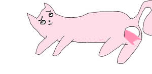 pink mother cat giving birth