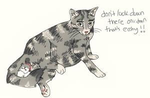 rotoscoped cat giving birth