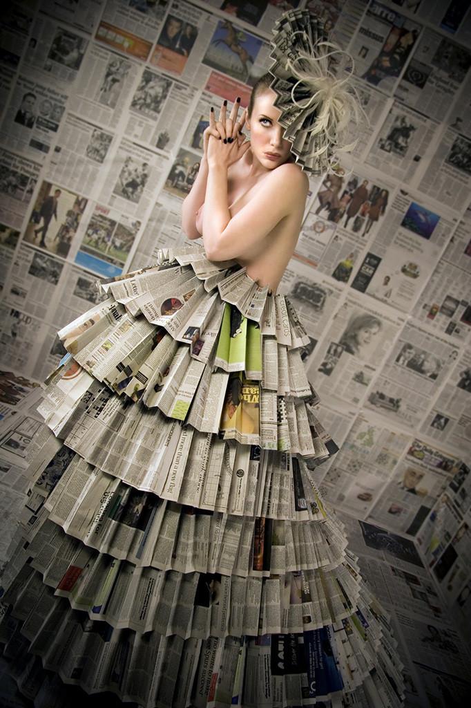 Фото платья из газет для девочек