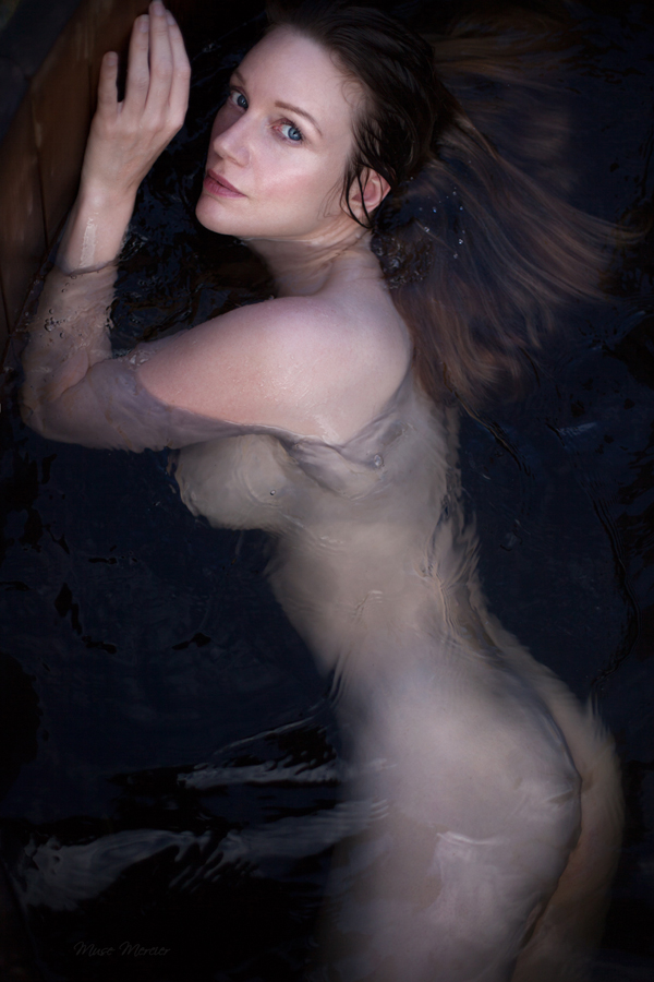 Mermaid in a hot tub by Muse1908