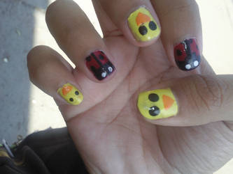 Lady Bug and Chicks Nails by Cookiez777